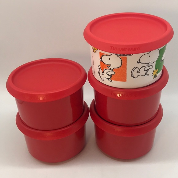 Tupperware  One Touch Canister Set of 5